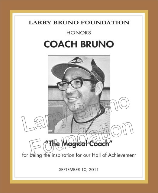COACH BRUNO Plaque 2011
