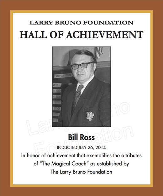 Billross 2014plaque