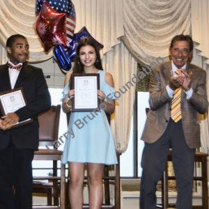 Scholars Bryce Allen And Olivia Carbone With Joe N